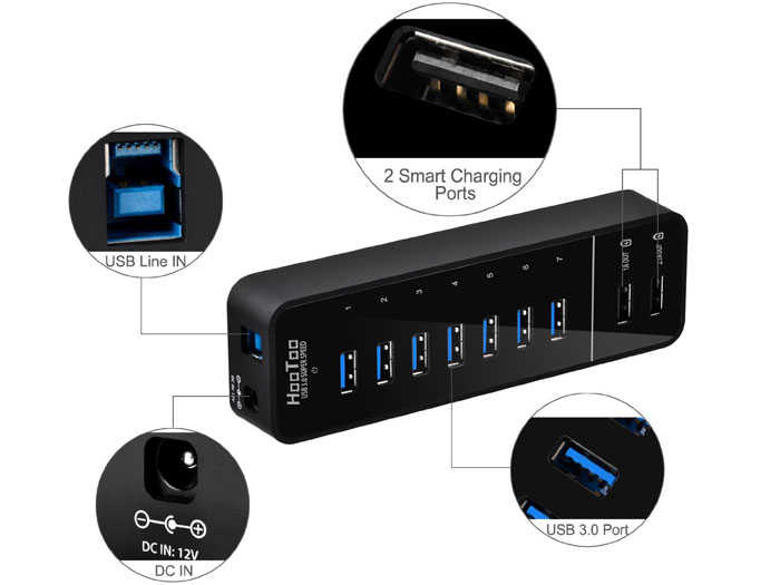 HooToo HT-UH010 7-Port USB Hub